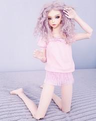 Pink Morning (Lorena Firefly) Tags: pink bjd boy balljointeddoll doll dollfie luts lutsbjd lutscian lolitabjd lolita pinklingerie lingerie gay boylove