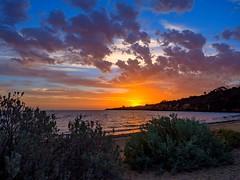 The last Rays (RP Major) Tags: sunset mentone sun clouds beach sky sea bay water