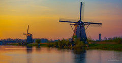 Holland (Peet de Rouw) Tags: dusk sunset windmills kinderdijk holland dutch polder netherlands canon5dmarkiv peetderouw denachtdienst