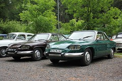 Panhard 24BT (5824-MV-59) & 24CT (9292-MJ-62) (MilanWH) Tags: panhard 24bt 24ct 24 berline coupe ripl2018 ripl rassemblementinternationalpanhardlevassor rassemblement international panhardlevassor levassor meeting netherlands