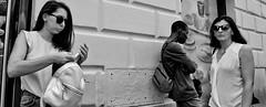 Sidewalk chess. (Baz 120) Tags: candid candidstreet candidportrait city candidface candidphotography contrast street streetphoto streetphotography streetcandid sony a7 rome roma europe women monochrome mono monotone noiretblanc bw blackandwhite urban life primelens portrait people pentax20mm28 italy italia girl grittystreetphotography faces decisivemoment strangers