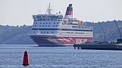 The Viking Line ferry Gabriella arriving in Stockholm (Franz Airiman) Tags: gabriella msgabriella vikingline båt boat ship fartyg ferry färja saltsjön stockholm sweden scandinavia kvarnholmen