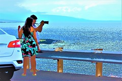 Overlook (thomasgorman1) Tags: ocean nikon colors effects enhanced processed colorized people man woman photographer photography highway street streetphotos streetshots tourism island hawaii pullover overlook view scenic