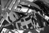 untitled (kaumpphoto) Tags: mamiya 3200 bw black white public art reflection abstract angle sculpture tile nc1000s lobby atrium chrome