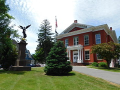 The  Town Hall & Civil War Monument (jimmywayne) Tags: berkshirecounty massachusetts greatbarrington historic townhall wingedvictory civilwar monument