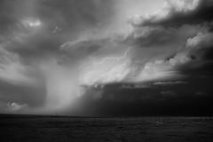 Drama with lightning (jasonhudson2) Tags: stormchasing storm cloud clouds lightning mono bandw blackandwhite drama landscape sony