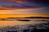 Sunset at midnight - Hafnarfjordur, Iceland (Páll Guðjónsson) Tags: beach boulders hafnarfjörður iceland midnightsun staðir suðvesturland yellow calm clouds golden landscape longexposure mountains outdoors purple skerries sunset tranguil ísland