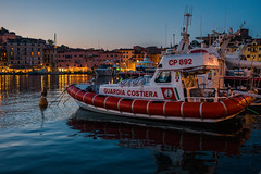 Twilight harbour.... (Dafydd Penguin) Tags: twilight sunset sun harbour harbor port dock harbourside quay quayside lifeboat vessel boat island isola elba italy mediterranean leica m10 summicron 35mm f2 asph