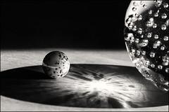 Come... to my inner circle! (Ageeth van Geest) Tags: glazenbol knikker marble 7dwf shadow zwartwit monochrome blackandwhite bw light glass circles macro round macromondays