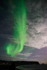 Kirkjufjara_aurora_L1090433 (nocklebeast) Tags: auroraborealis iceland kirkjufjarabeach nrd aurora stars ocean beach vik southcoast