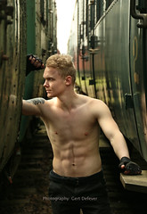 IMG_9626h (Defever Photography) Tags: male model blond train inked chest