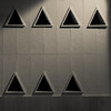 7 Triangoli. 7 triangles (monochrome) (sandroraffini) Tags: abstract reality geeometria forme sony rx100m1 valencia ombre shadows triangoli minimalismo minimalism semplici simple finestre windows small piccole 7 sandroraffini