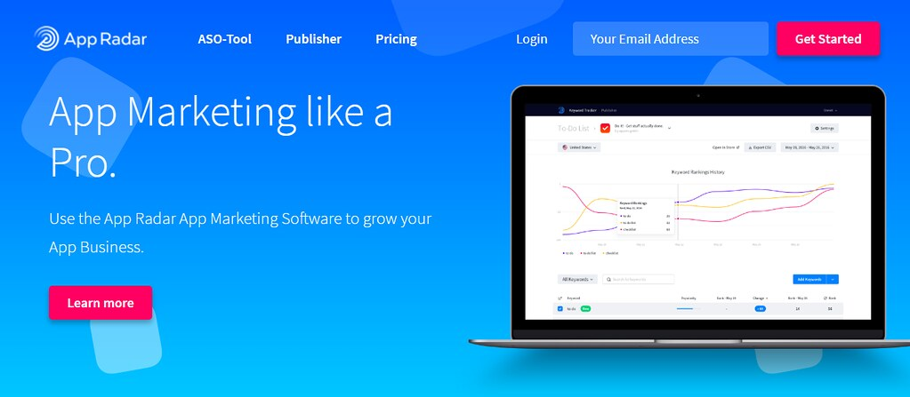 App Radar - Công cụ giúp ASO(App Store Optimization) tốt nhất