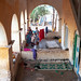 Somali women under the arcades of a former ottoman house, North-Western province, Berbera, Somaliland