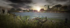 Whimberly dawn (Tripp Nitely) Tags: secondlife whimberly landscape scenic sunset water dock grassy