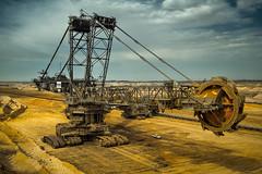Coal mining in Germany (Elderin) Tags: braunkohleabbau kohleabbau coalmining kohle mining rwe