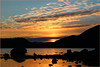 Good morning! 😘 (bitmap_idx) Tags: orange sunrise clouds rocks beautyofnature silence view stavanger vaulen dynamic reflection