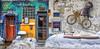 Les Artistes indépendants (Paul Leb) Tags: montréal québec canada neige nieve snow hiver invierno winter porte puerta door bicycle bicicleta bicyclette vélo ouvert fermé fleur flower flor