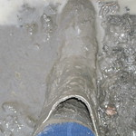 137 - AIGLE Wellworn Wellies filled with mud ( Rubberboots Gummistiefel Laarzen thumbnail