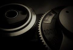 Tension..x HMM (Lisa@Lethen) Tags: backintheday macromondays tension arm old camera macro numbers blacknwhite bw mono