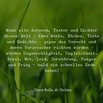 Wenn alle Autoren, Texter und Dichter - Zitat Horst Bulla thumbnail
