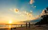 Daily life in Ao Nang Beach (skweeky ツ) Tags: thailand thailande ao nang beach sunset coucher soleil backlight silhouette silhouet sea shadow plage cloud sky blue