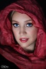Monica (David Corona Fotografía ( draco_66 )) Tags: beautiful eyes red girl draco66 davidcorona lips blue