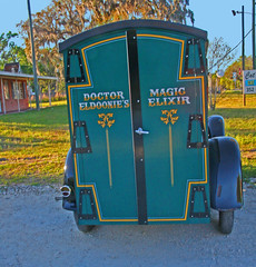 DOCTOR ELDOONIE'S MAGIC ELIXIR, S. Florida Ave. Floral City, FLorida (2 of 3) (gg1electrice60) Tags: modelapaneltruck modela nexttocatnapinn nexttokoalateeacademy 5600sfloridaave 5600southfloridaave 5600sfloridaavenue acrossfromshellstation acrossfromcirclekconveniencestore neargoodcounselcamp intersectionofwgobblerctsfloridaave intersectionofegobblerrdsfloridaave eastgobblerroad westgobblercourt southfloridaavenue countyroad39a cr39a citruscounty floralcity florida fl unitedstates usa us america vehicle truck farmersmarket vendors signs produce seafood van paneltruck doctoreldoonies magicmedicine doctoreldoonie magicelixir dualbackdoors sparetire runningboards frontbumper ahoogahorn siderearviewmirror headlights fenders hinges taillight curvedroof crests curlicues kurlicues curliques kuriques