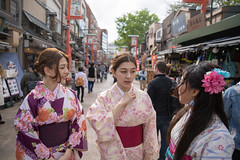 Young asian women talking on traditional Japanese street (Apricot Cafe) Tags: img87385 asakusa asia asianandindianethnicities canonef2470mmf28liiusm japan japaneseethnicity japaneseculture kimono multiethnicgroup tokyojapan candid capitalcities carefree colorimage couplerelationship cultures day friendship happiness leisureactivity lifestyles longhair outdoors people photography shopping sister smiling springtime straighthair street talking threepeople togerness togetherness tourism tourist tradition traveldestinations twin waistup walking weekendactivities women youngadult taitōku tōkyōto jp