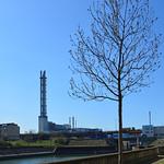 Duisburg - Innenhafen (39) - ehem. Stadtwerke-Kamine thumbnail