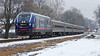 301 in the April Snow (HighHor$epower) Tags: idtx4617 amtrak301 lincolnservice peoriaroad sc44charger siemenscharger amtrak unionpacific springfieldsubdivision snow