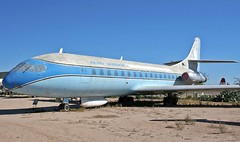 N1001U (GSairpics) Tags: n1001u se210 caravelle aircraft aeroplane airplane jet jetliner airliner preserved display museum parked pimaairspacemuseum tucson arizona usa