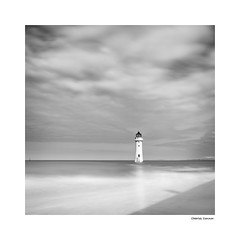 Perch Rock Lighthouse, New Brighton (Charles Connor) Tags: perchrocklighthouse perchrock newbrighton newbrightonbeach lighthouses seascapes clouds monochrome monochromeseascapes fineart longexposures landscapephotography merseyside canon5d3 canondslr canonef24105mmlens