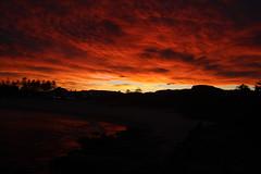 A Wollongong sunset (RossCunningham183) Tags: sunset nsw australia mtkiera wollongong clouds orange