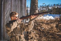 Vintage range day (HaakonDueland) Tags: guns ammo old school oldschool ww2 ww1 worldwar1 worldwar2 m1garand rayban uniform army gunrange shooting norway grimstad