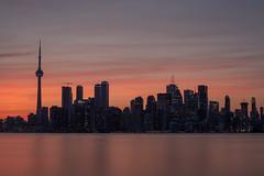 Toronto Sunset (soomness) Tags: sunset dusk skyline toronto ontario canada travel travelphotography orange sun skyporn fujifilmxt2 fujifilm fujinon fuji xt2 xseries xf35mmf14r silhouette boat ferry landscape cntower