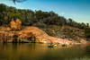 Kayakers make their way into the Devil's Waterhole at Inks Lake State Park (Ian Aberle) Tags: 2018 burnetcounty coloradoriver copyright©2018ianaberle devilswaterhole hdr inkslake inkslakestatepark kayak kayaker kayaking spring texas goldenhour tonemapped burnet unitedstates exif:focallength=24mm exif:model=canoneos7d camera:make=canon geo:country=unitedstates geo:state=texas geo:city=burnet camera:model=canoneos7d exif:aperture=ƒ56 geo:lat=30747778333333 exif:isospeed=200 geo:lon=98359445 geo:location=3514stateparkroad4 exif:lens=ef24105mmf4lisusm exif:make=canon us