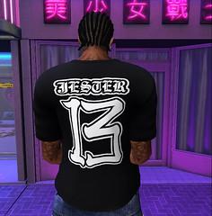 JESTER T-Shirt (back) (XioJester3D) Tags: jester joker novelty 13 black urban gothic