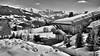 Megève 6 (mg photographe) Tags: combloux mont blanc mountain montagne alpes france snow neige chalet paysage landscape monochrome