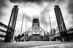 Liverpool Metropolitan Cathedral, Liverpool, UK (KSAG Photography) Tags: church cathedral religion architecture blackandwhite monochrome city urban liverpool merseyside uk unitedkingdom britain england europe wideangle nikon march 2018 cloud design heritage