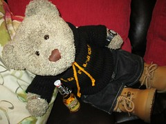 A lickle drinkie-poo... (pefkosmad) Tags: tedricstudmuffin teddy ted bear cute cuddly animal toy stuffed soft plush fluffy holiday week holibob cottage cornwall bodmin cardinham westcountry westsidecottage daysout trips touring tourist tourism adventures