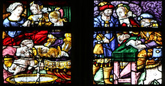 Birth of St John the Baptist (Lawrence OP) Tags: johnthebaptist saints eglise stmathurin moncontour bretagne brittany stainedglass name stelizabeth zechariah