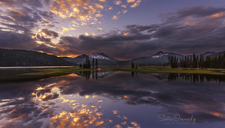 Dramatic Sunset at Sparks Lake. (Bend, OR)