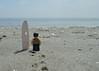 Surf's...errmm, flat (175/365) (robjvale) Tags: d3200 beach sand sky sun hammonasset nikon adventurerjoe lego project365