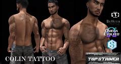 TOP STRIKER COLIN TATTOO MP (Top Striker) Tags: roymildor topstriker colin tattoo omega maitreya classicavatar belleza signature