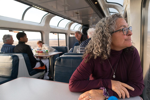 Nancy on the California Zephyr