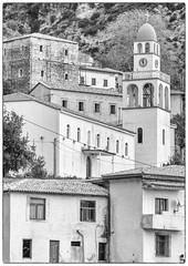 Dhermi (judepics) Tags: blackwhite albania bw dhermi ll monochrome city town buildings church hillside