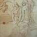 PRIMATICE - Triptyque, Trois Hommes, un Mulet et un Âne auprès d'un Chargement (drawing, dessin, disegno-Louvre INV8574) - Detail 09