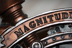 Magnitude (oddbodd13) Tags: steampunk clock macro study vignette model magnitude text silver bronze alchemy gothic stormgrave chronometer polyresin
