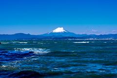 Mt. Fuji view from Enoshima Iland (Dakiny) Tags: 2018 winter january japan kanagawa fijisawa shonan coast enoshima iland landscape mountain fuji mtfuji sky sea bearch d750 nikonclubit